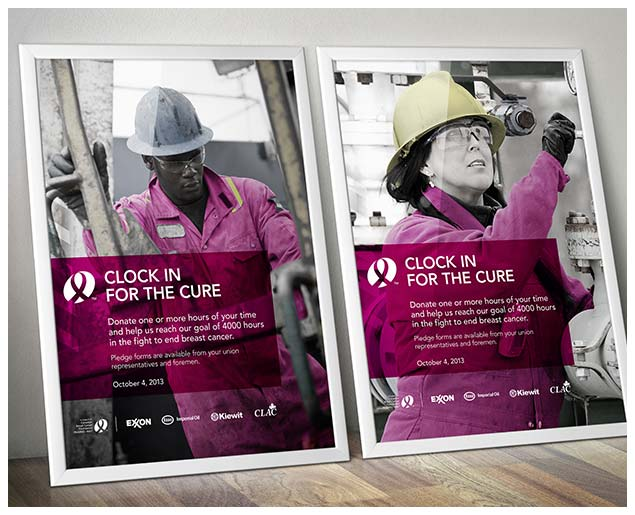Clock In For The Cure Posters